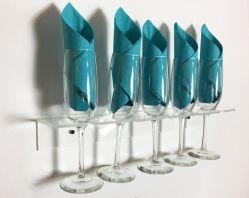 Het duidelijke Acryl Plastic Rek van de Vertoning van de Muur van het Glas van de Fluit van de Wijn van de Houder van Champagne