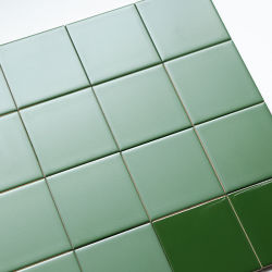Multi-Specification Home Decor Design vert foncé Les carreaux de céramique à fixation murale vitrée
