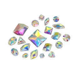 Het kristal naait op de Levering voor doorverkoop van Bergkristallen Flatback voor de Toebehoren van het Kledingstuk