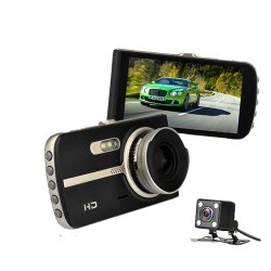Lente dupla carro HD DVR/Caixa Preta /Gravador de Vídeo/ Viehcle Gravador automático para a segurança do condutor acidente (AVP035e002)