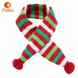 Diseño de bordado de algodón tejido Navidad Otoño Bufanda de perro de mascota