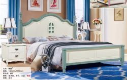 Mobiliário de madeira com sólido cama individual com base de madeira