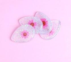 Fleur de gros de la beauté de l'impression Teardrop éponge de silicone