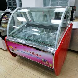 Kundenspezifische Bassin-Eiscreme-Schaukasten Gelato Bildschirmanzeige-Gefriermaschine