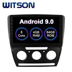 Witson Android 9.0 voiture Skoda Auto Radio GPS pour 2010-2014 superbe manuel version 64 Go de RAM Climatiseurs Flash grand écran