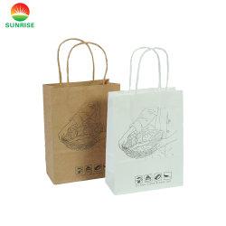 Elegante Cor Preta de qualidade superior de folha de ouro Prata Saco de marca com logotipo próprio saco de papel com pega