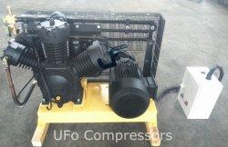 La haute pression 30bar 2 étape Piston compresseur à air à mouvement alternatif pour le moulage par bouteille