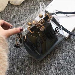 Печать прозрачные ПВХ Леди дамской сумочке два модных сумки через плечо