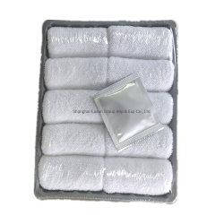 Aangepaste Katoenen Natte Handdoek voor het Restaurant van het Hotel van het Vliegtuig van de Luchtvaartlijn