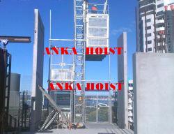 Piso de aterragem Hoistway Porta Porta com barra de travamento para a construção içar a máquina
