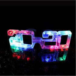 Feliz Ano Novo a luz de LED de óculos intermitente