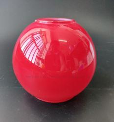 Commerce de gros globe de verre coloré rouge grillé couvercle de lampe témoin de l'ombre