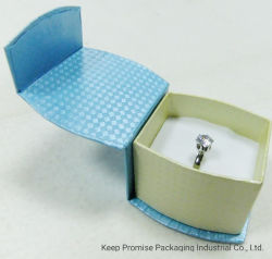 Botón de cartón de la luz de regalo papel azul Bracelet Watch Joyero