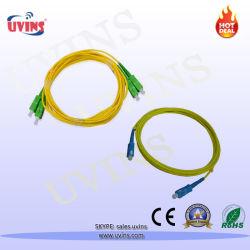كبل سلك توصيل الألياف الضوئية مزدوج واحد أحادي الجانب Singlemode متعدد الأوضاع Sc/FC/St/LC/APC/UPC/PC