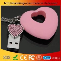 Aandrijving van de Pen van de Juwelen USB van de Halsband van de Aandrijving 32g/64G/256g van de Flits van de Gift USB van het Kristal van de levering de Creatieve Vrouwelijke