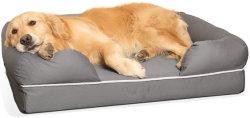 Gris de luxe d'alimentation en mousse à mémoire de remplissage PET douce chaude Big Dog lits
