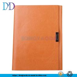 Cuero suave Loose-Leaf portátil personalizado A5, impreso el logotipo corporativo de libro