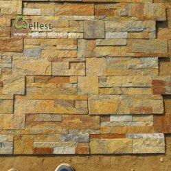建築材料のスレートの棚文化景色の壁の石
