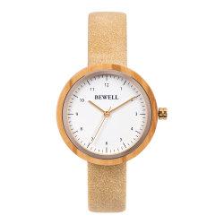OEM Custom moda casual Correa de piel auténtica señoras reloj de pulsera