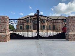 Jardim Residencial Europeia personalizada porta a porta de entrada de porta dianteira portões de ferro forjado como porta de entrada para o jardim