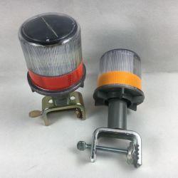 Cono de tráfico solar luz camino Luz estroboscópica de cono de barricada Testigo con una base metálica