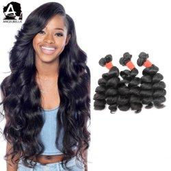 자연적인 색깔 Remy 머리 가발을 길쌈하는 Angelbella 도매 캄보디아 Virgin 브라질 사람의 모발