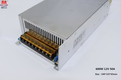 Wechselstrom-Gleichstrom-Schaltungs-Stromversorgung 600W 12V 50A für im Freienled-Beleuchtung-Projekt SMPS