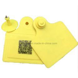 Commerce de gros animaux UHF RFID Tag de l'oreille avec vide/numéro/code-barres laser