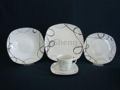 Piatti di ceramica della squadra a triangolo del padellame della porcellana della casella di immagazzinamento in il padellame di vendita calda promozionale