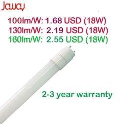 100-160lm/W 9W/14W/18W/22W 2FT/3FT/4FT/5FT Nano PC 관 전등 설비 T8 LED 형광등 빛
