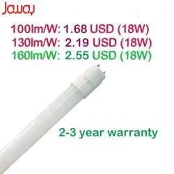 tubo chiaro di 160lm/W 9With14With18With24W 2FT/3FT/4FT/5FT Nano/PC T8 LED