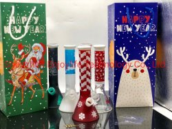 Tuyau de verre de style de Noël en usine Glass Art petit tuyau eau en verre Verre Age Pipe
