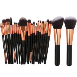 22pcs Maquillage professionnel Brosse réglée Foundation Brow bronzage Eye Shadow Liner Kit de brosse cosmétiques