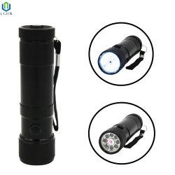 Светодиодный фонарик из алюминиевого сплава с лазерным лампы в подарок для продвижения