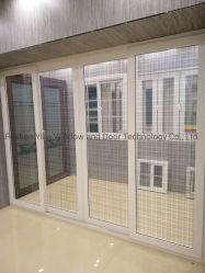 Оптовая торговля UPVC пластика тонированного стекла сдвижной двери с замком