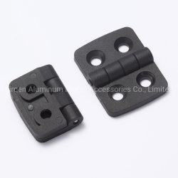 20X20アルミニウムプロフィールのためのナイロンドアヒンジの黒のプラスチックヒンジ