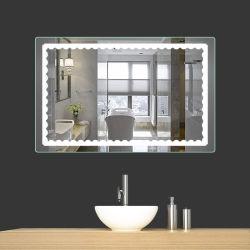 Hotel salle de bains 5000K gradateur de lumière LED rétroéclairé avec capteur tactile de rétroviseur
