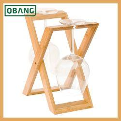 O bambu e Vinho Madeira para Rack Decoração Garrafa Rack de armazenamento