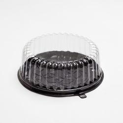 Одноразовые Пэт торт контейнер пластиковой упаковки выпечки круглый купол в салоне