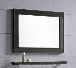 Hotel de 4 mm de pared decorativo espejo enmarcado espejo del baño de plata
