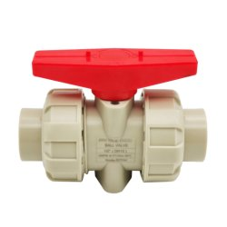 Pph Anti-Crossive Válvula de bola de aguas residuales industriales