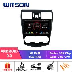"""Witson 9 """" Subaruの森林官2013-2015年のための大きいスクリーン車のDVDプレイヤーGPS"""