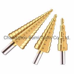 titanio Hex del cono della scanalatura diritta della tibia 3PCS per i bit di trivello del bit di trivello degli strumenti Drilling del metallo