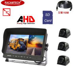 9 3カメラとのインチのデジタル4 CHクォードDVRトラックまたは車またはバスモニタシステムそしてビデオ録画機能