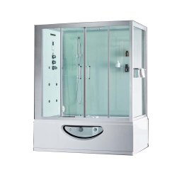 En el mercado de Dubai Lujoso baño de vapor Sala integrado Bañera Ducha Canbin