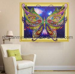 Résumé de la peinture huile sur toile de diamant Butterfly Bricolage cadeau pour la décoration de la chambre