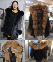 Parka della pelliccia delle coperture personalizzato 2019 con i rivestimenti del parka della pelliccia della fodera della pelliccia del coniglio del collare di Fox