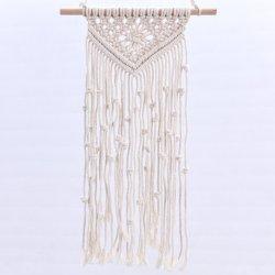 Tappezzeria della parete della corda sisal/del cotone tessuta Macrame della Boemia che appende per la decorazione (HQWH-14)