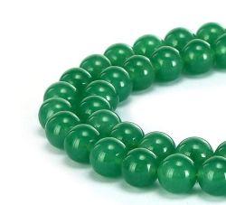 Aventurine vert jade naturelles Gemstone Smooth Round lâche les talons peut faire des bijoux bracelets et colliers et une variété de bijoux de mode 4mm - 14mm