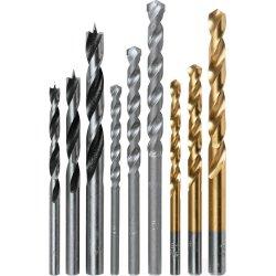 Recubierto de titanio Jobber de torsión de acero de alta velocidad la longitud, núcleo de diamantes de mango recto de la broca para metal